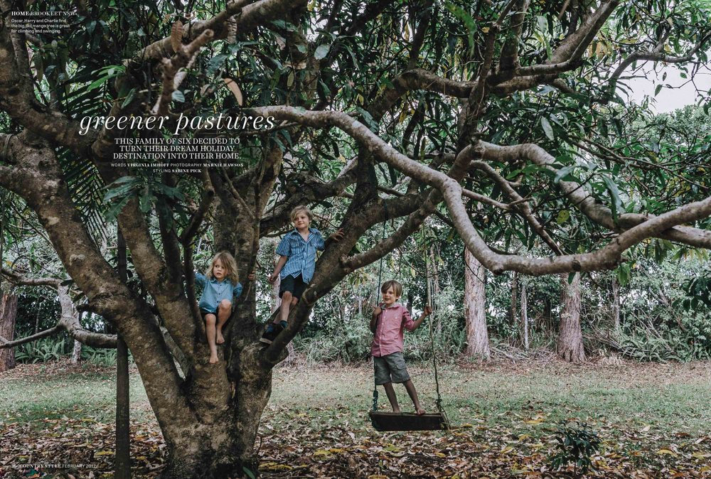 Brooklet House for Country Style magazine, February 2017. Photography by Marnie Hawson