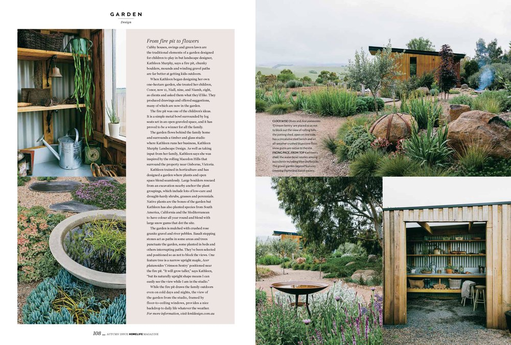 Marnie Hawson, Melbourne lifestyle photographer for Homelife magazine and Kathleen Murphy Landscape Design