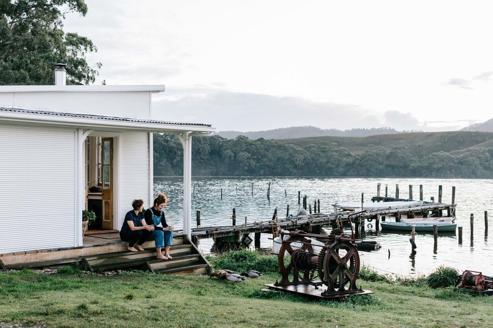 Marnie Hawson, Melbourne interior and lifestyle photography, for a little fishing shack on the water called Captain's Rest (Strahan, Tasmania) and Country Style magazine.