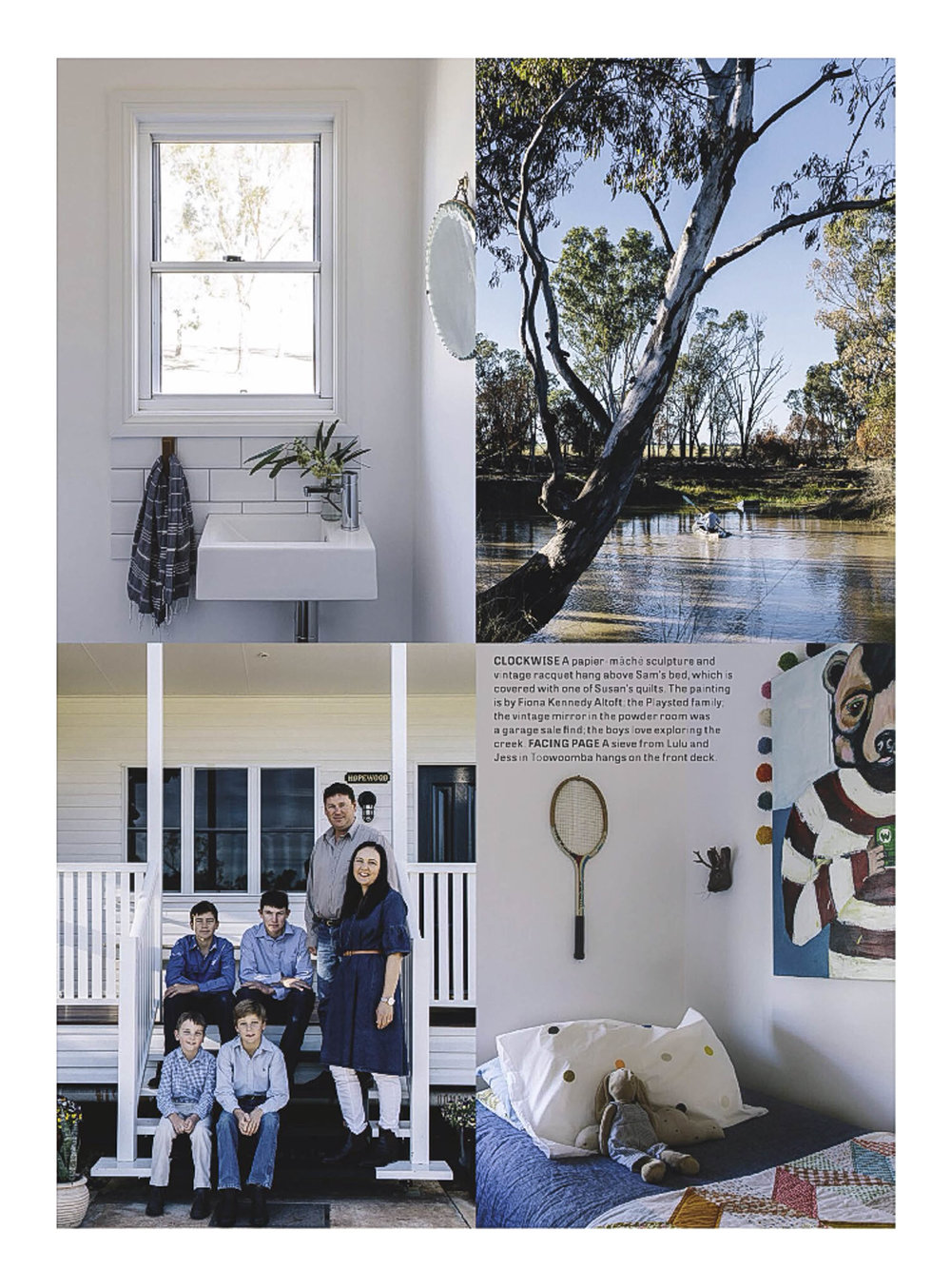 Marnie Hawson, Melbourne interior photographer, for Country Style magazine and Hopewood Home, Chinchilla QLD
