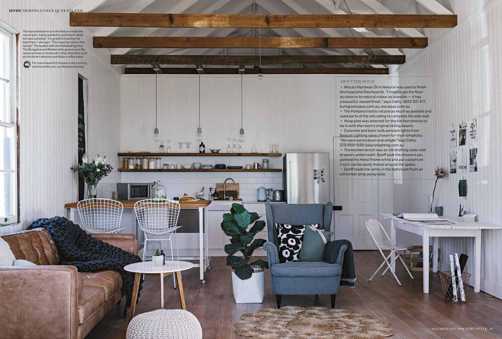 Marnie Hawson, Melbourne interior photographer for Cathy & Kirstie Penton, Meringandan and Country Style magazine, November 2017