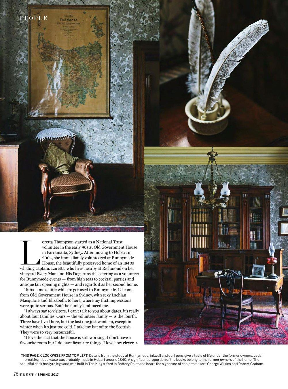 Marnie Hawson, Melbourne interior photographer for Trust magazine, Issue 3 (Runnymede, Tasmania)