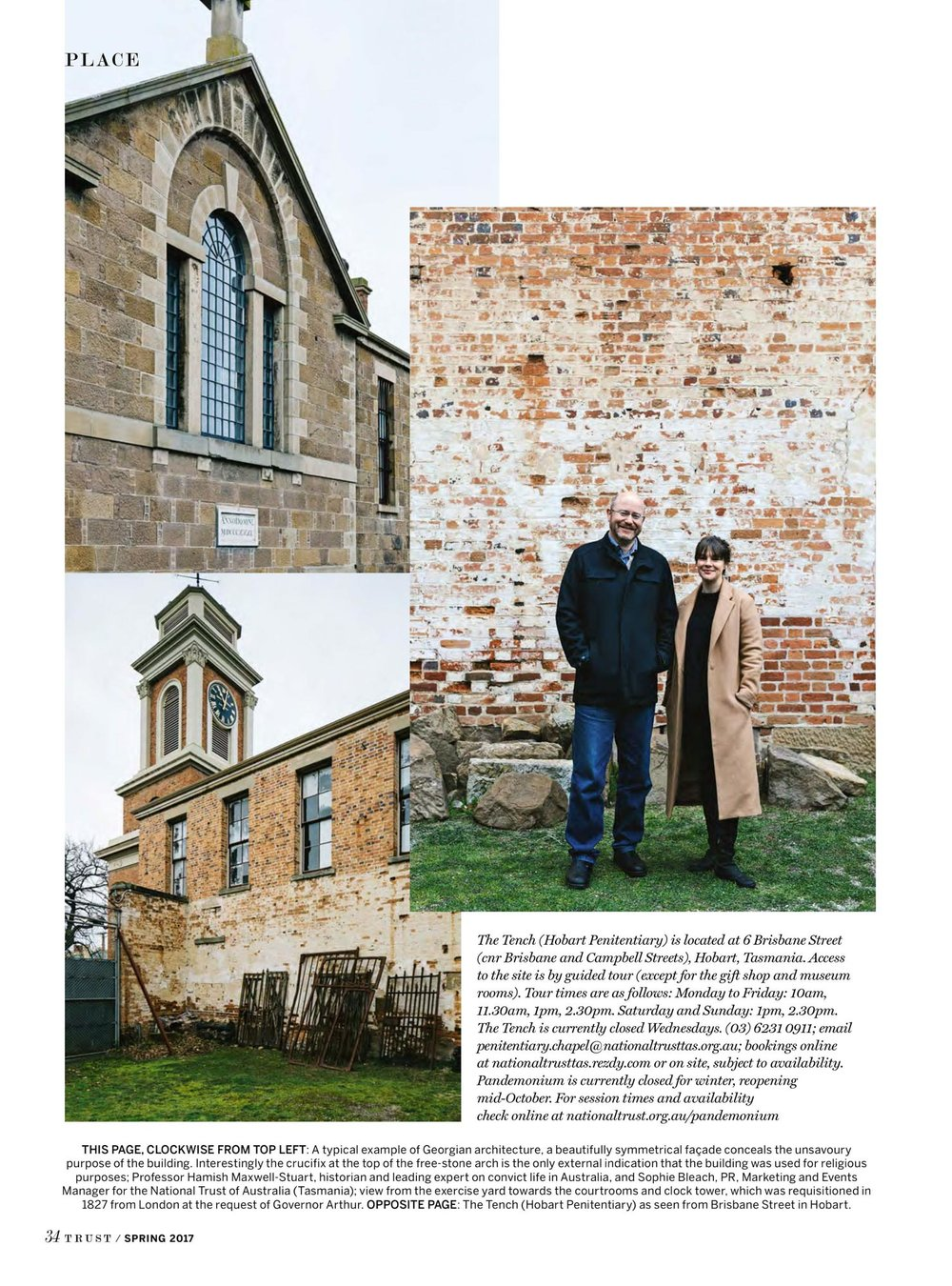 Marnie Hawson, Melbourne lifestyle photographer for Trust magazine, Issue 3 (Hobart Penitentiary)