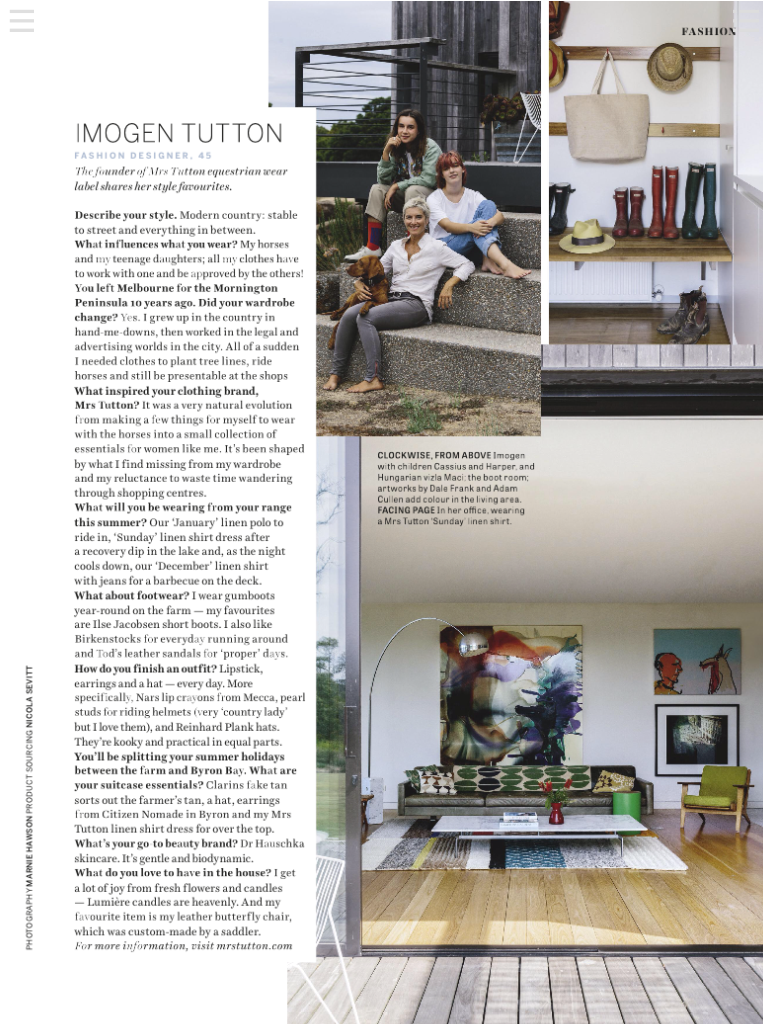 Marnie Hawson, Melbourne lifestyle photographer for Country Style magazine