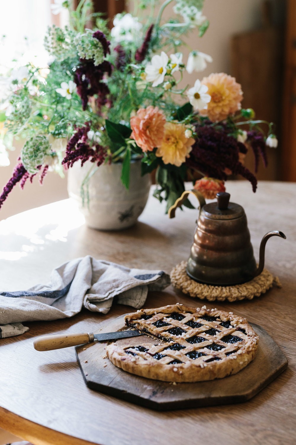 Julia Busuttil Nishimura for Habitus and her jam tart. Photography by Marnie Hawson, Melbourne lifestyle photographer.
