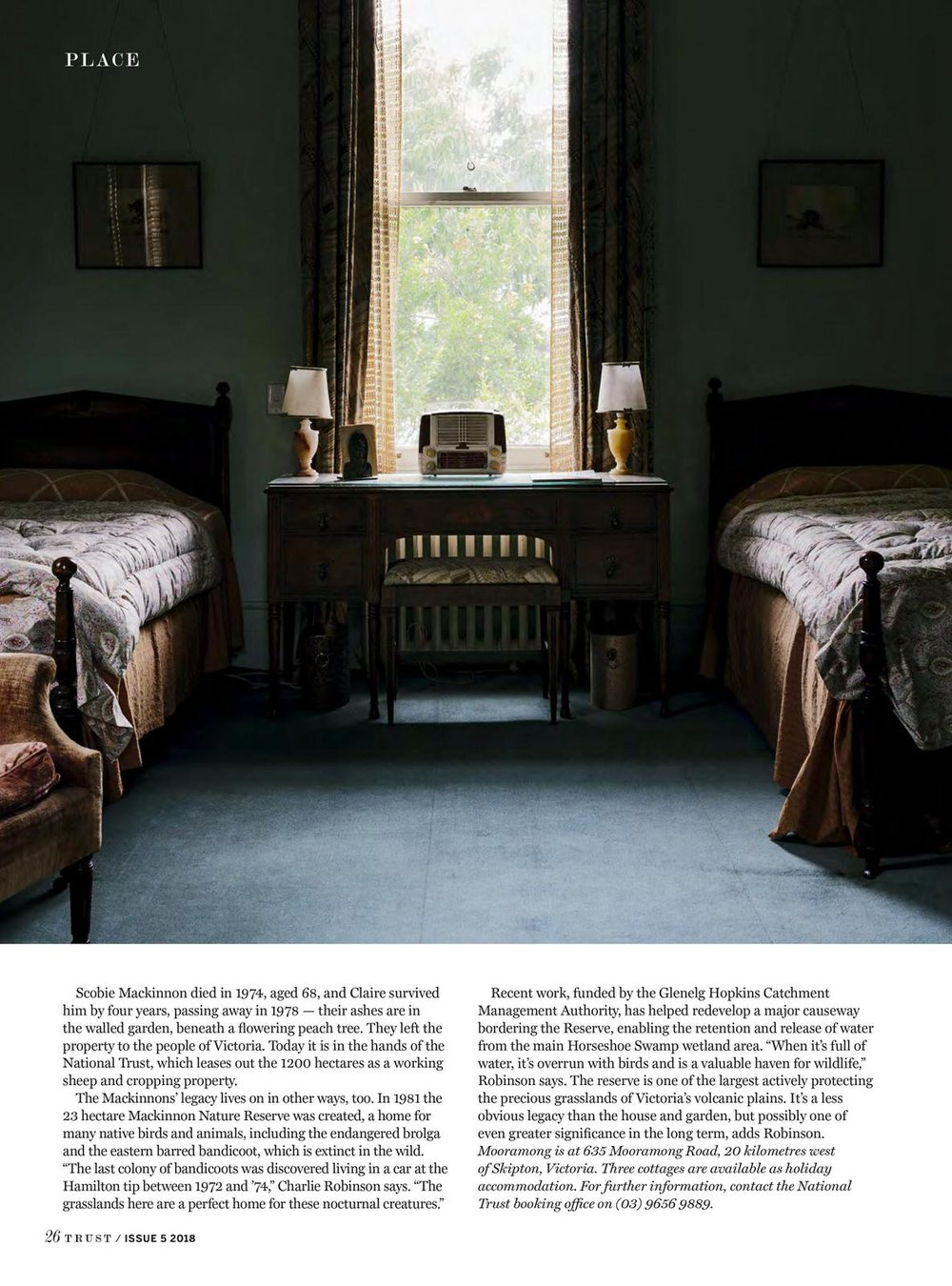 Marnie Hawson, Melbourne interior photographer for The National Trust