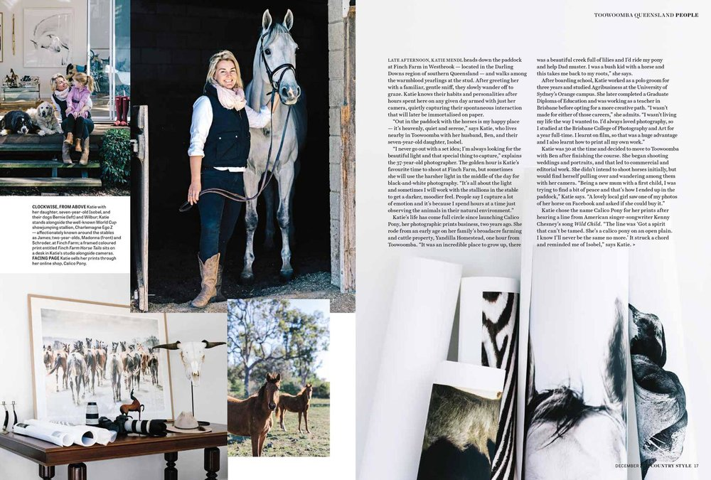 Marnie Hawson, Melbourne lifestyle photographer for Calico Pony and Country Style magazine