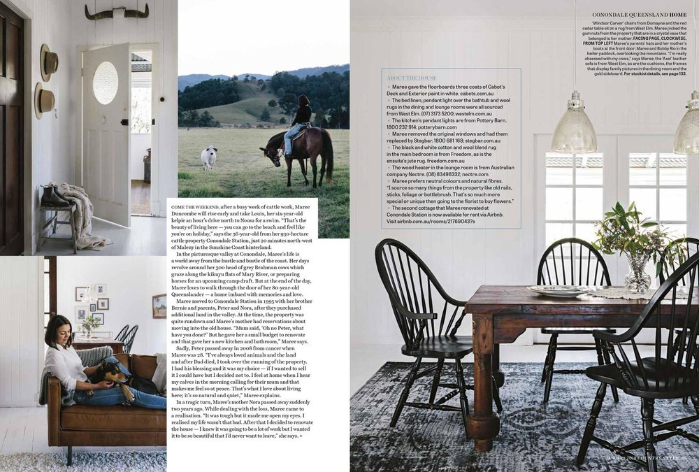 Marnie Hawson, Melbourne interior photography for Country Style magazine
