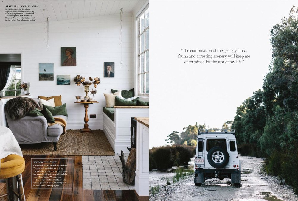 Marnie Hawson, Melbourne interior photography for Captain's Rest, Strahan and Country Style magazine