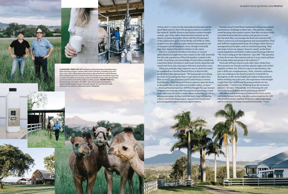 Marnie Hawson, Melbourne ethical photographer for Summerland Camel Farm and Country Style
