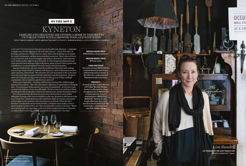 Marnie Hawson, Melbourne ethical photographer for Kyneton travel story and Country Style