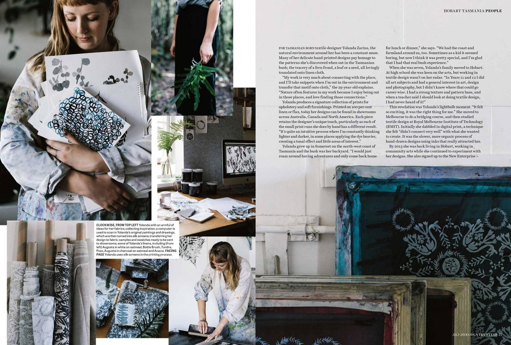 Marnie Hawson, Melbourne purpose-driven photographer for Country Style and Yolanda Zarins