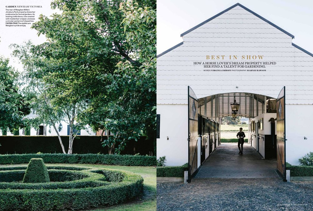 Marnie Hawson, Melbourne purpose-driven photographer for Country Style and Meaghan Willis, Newham