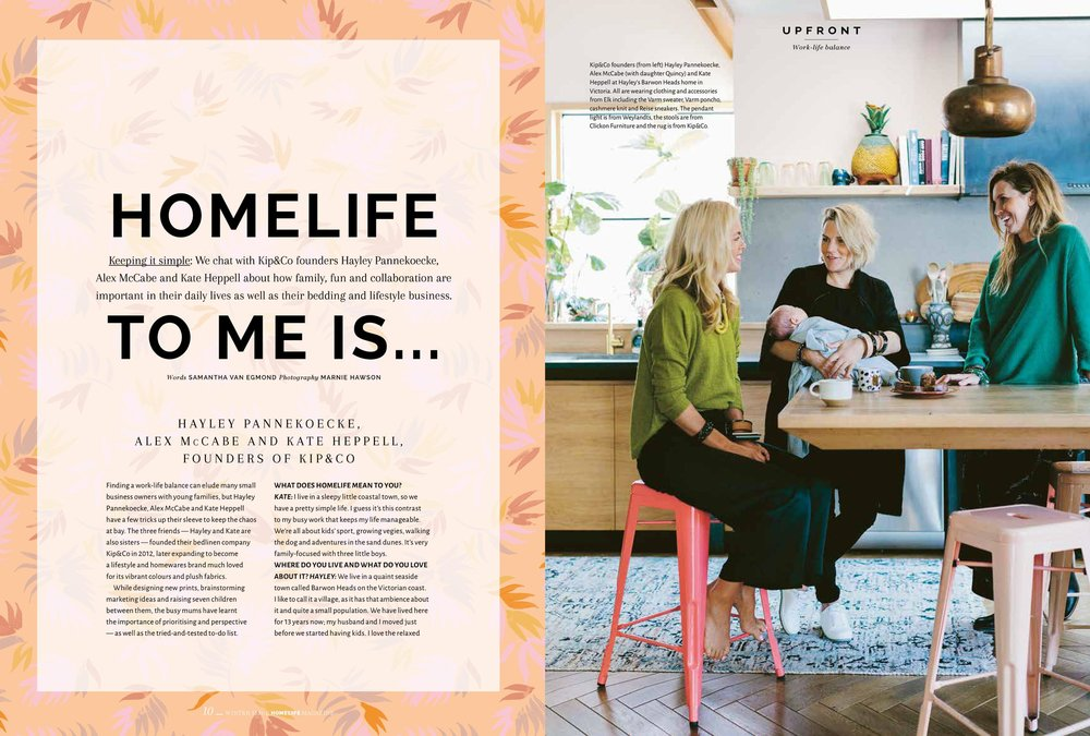 Marnie Hawson, Melbourne ethical photographer for Kip & Co/ELK and Homelife magazine, Issue 8