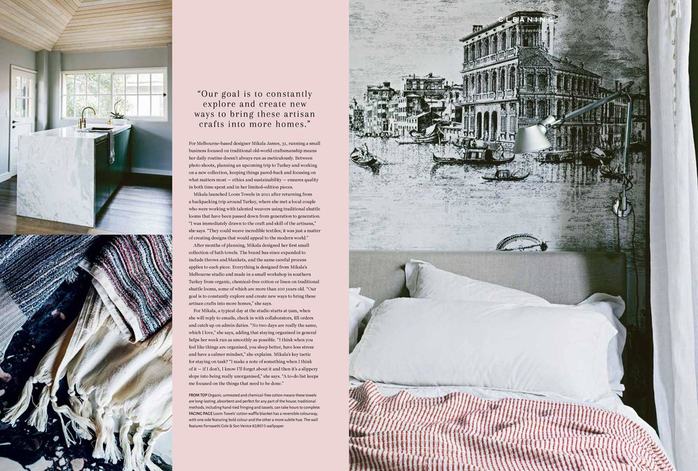 Marnie Hawson, Melbourne purpose-driven photographer for Loom Towels and Homelife magazine, Issue 8