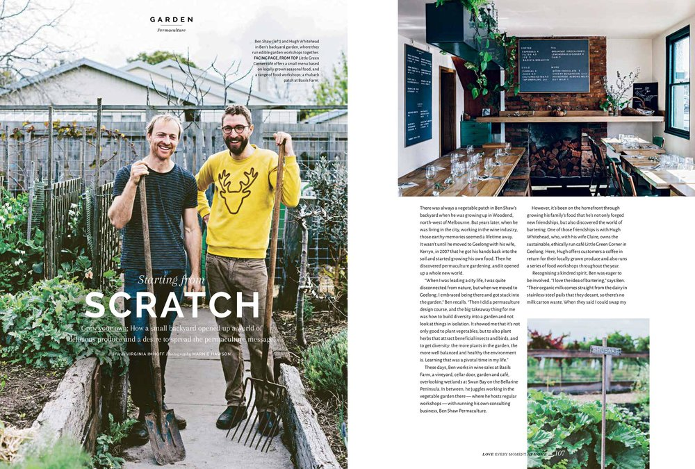 Marnie Hawson, Melbourne purpose-driven photographer for Ben Shaw Permaculture and Homelife magazine, Issue 8