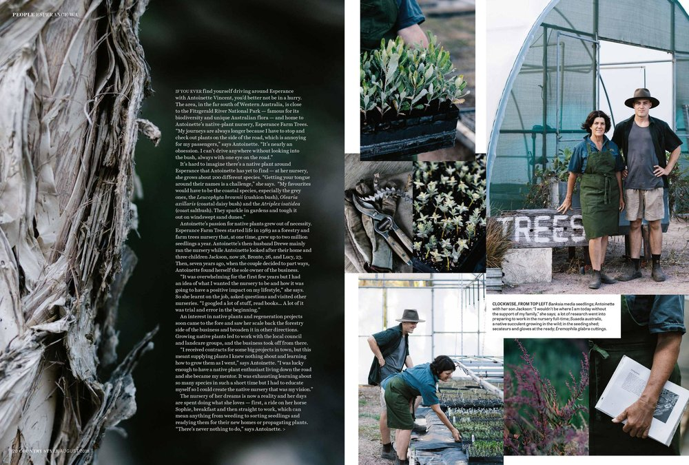 Marnie Hawson, Melbourne purpose-driven photographer for Esperance Farm Trees, WA and Country Style magazine