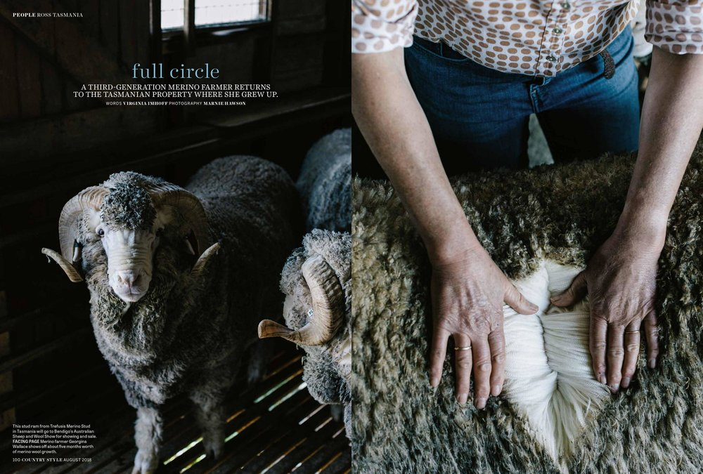 Marnie Hawson, Melbourne lifestyle photographer for Trefusis Merino Stud, Tasmania and Country Style magazine