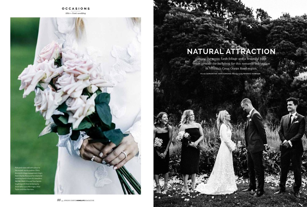 Wye River wedding for Homelife magazine. Photography by ethical wedding photographer Marnie Hawson.