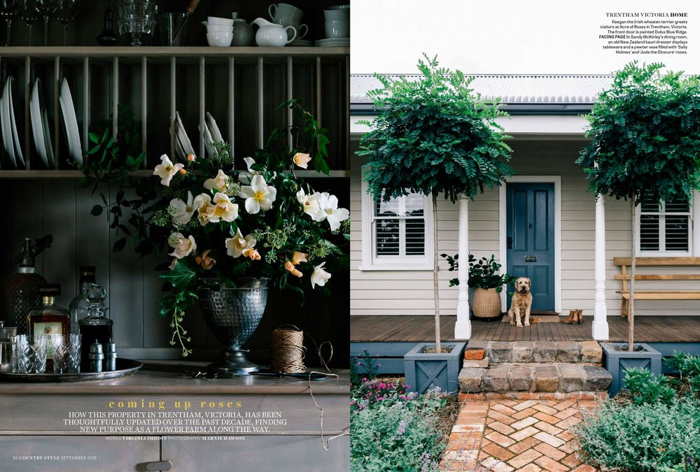 A sustainable flower farm and luxury country accommodation. Photography by Marnie Hawson, Melbourne purpose-driven photographer for Acre of Roses, Trentham.Styled by Belle Hemming.