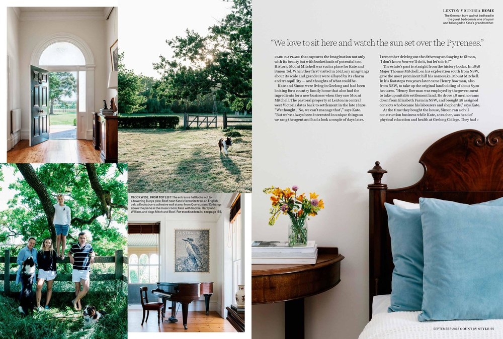 Photography by Marnie Hawson, Melbourne ethical photographer for Mount Mitchell homestead and Country Style magazine. Styled by Lee Blaylock and words by Virginia Imhoff.