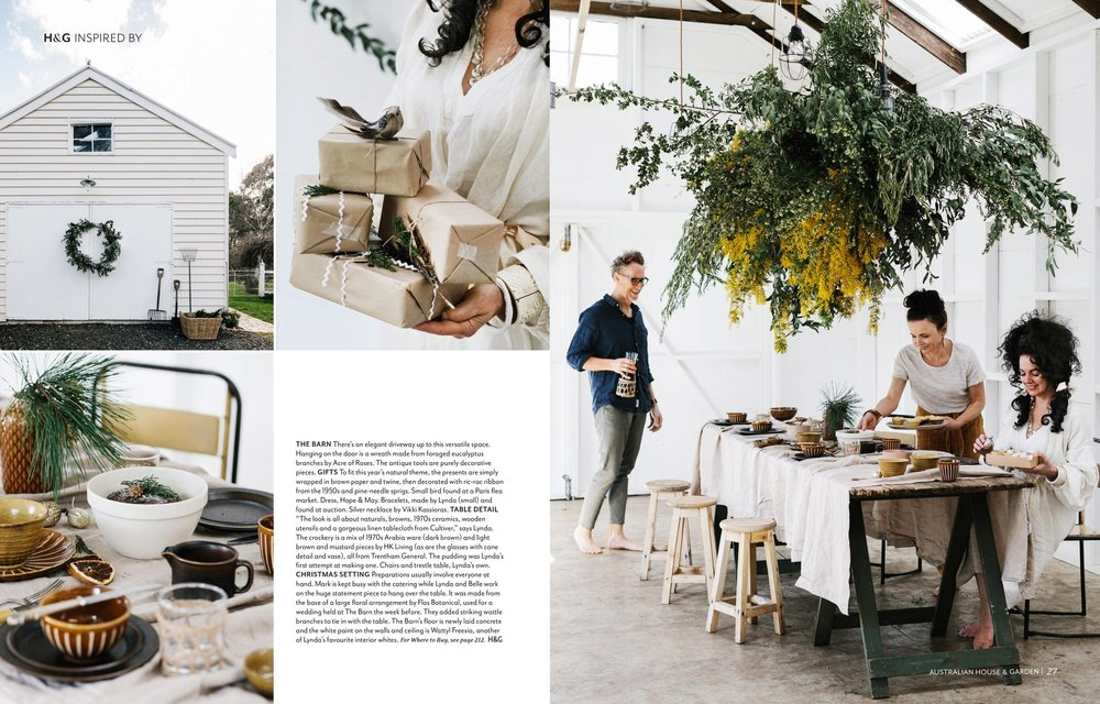 Lynda Gardener at The Estate, Trentham for Australian House & Garden, December 2018. Photography by Marnie Hawson, and styling by Inside Story.