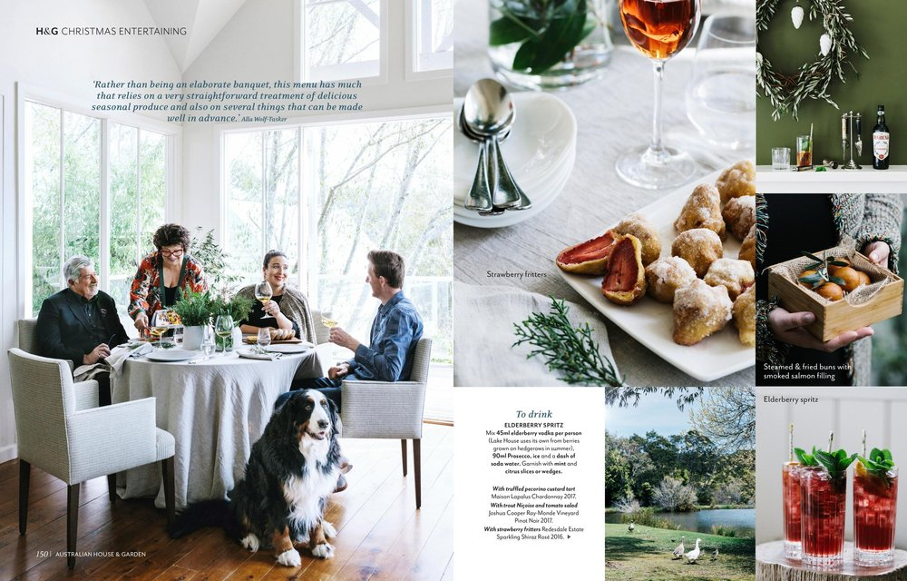 Alla Wolf-Tasker at The Lakehouse, Daylesford for Australian House & Garden, December 2018. Photography by Marnie Hawson, and styling by Inside Story.