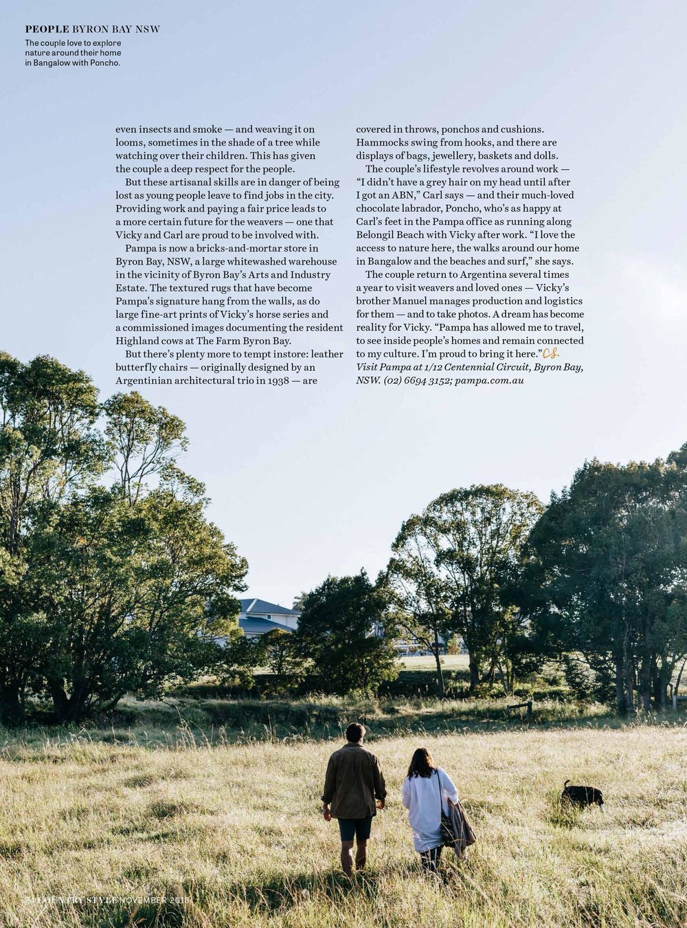 Melbourne lifestyle photographer, Marnie Hawson for Pampa, Byron Bay and Country Style