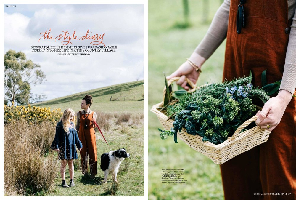 Melbourne lifestyle photographer, Marnie Hawson for Belle Hemming and Country Style