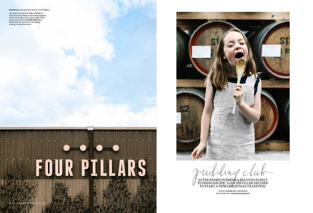 Melbourne lifestyle photographer Marnie Hawson for Four Pillars Gin and Country Style