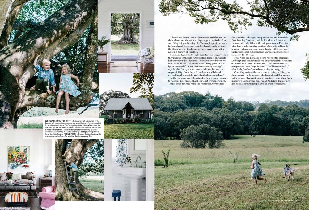 Melbourne interior photographer Marnie Hawson for Fridas Field, Nashua and Country Style. Styling by Nicola Sevitt.