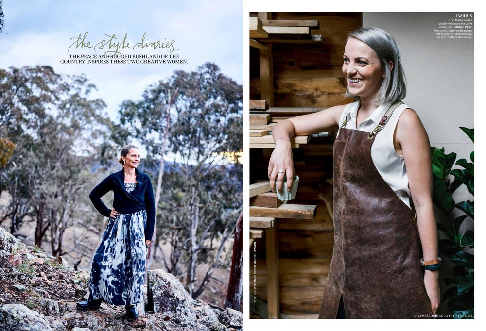 Melbourne fashion photographer Marnie Hawson for Erin Malloy and Country Style.