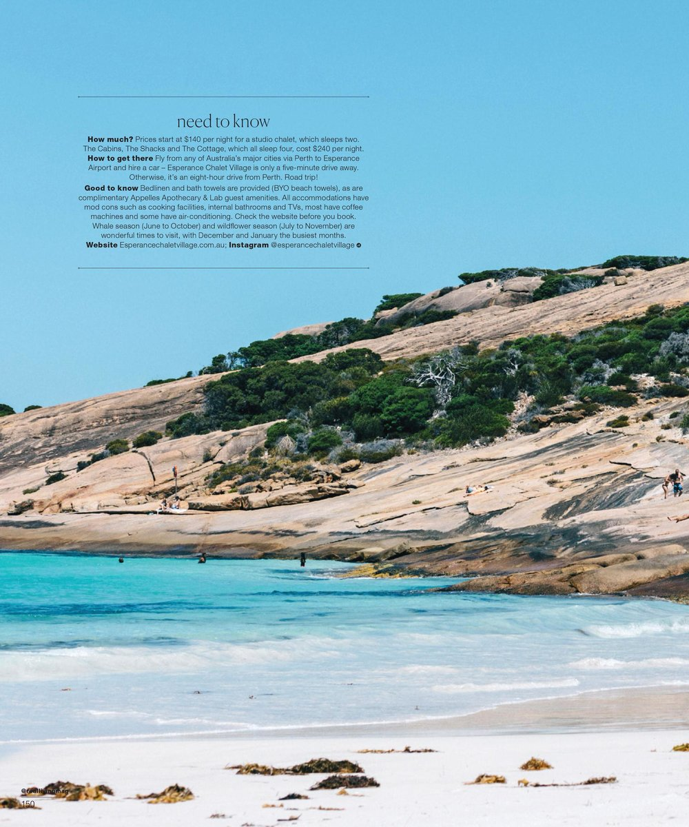 Melbourne travel photographer, Marnie Hawson for Esperance Chalet Village and Real Living.