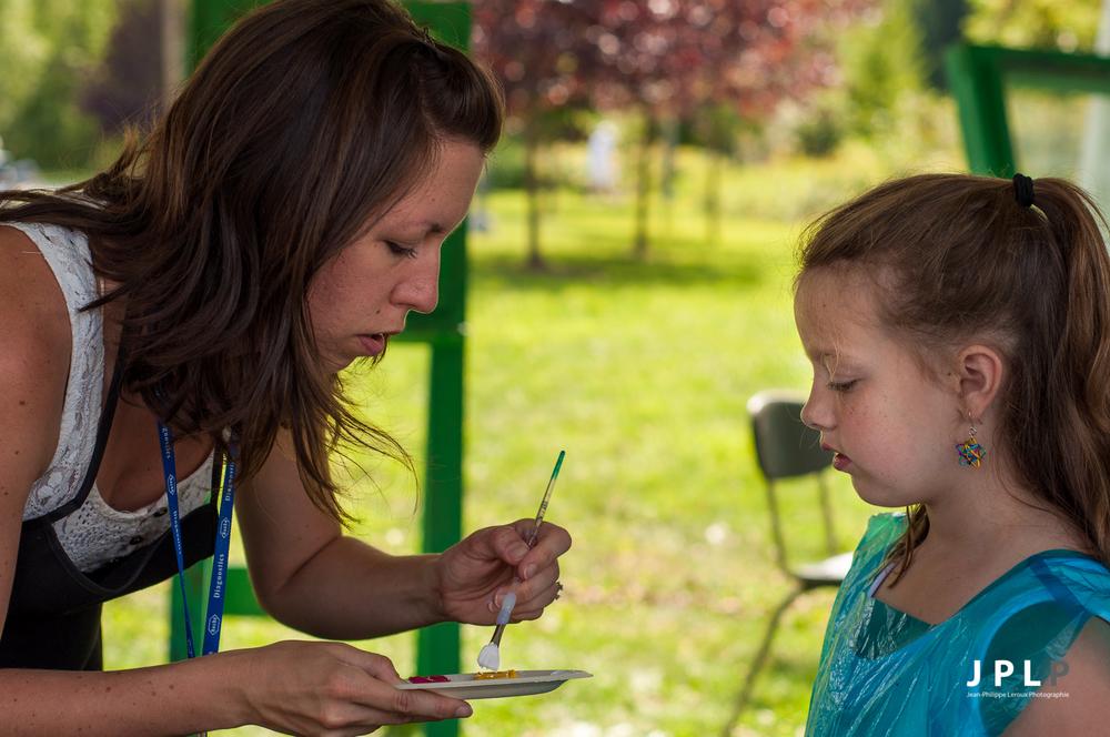 Des professeurs sont sur place et anime un atelier pour les plus jeunes