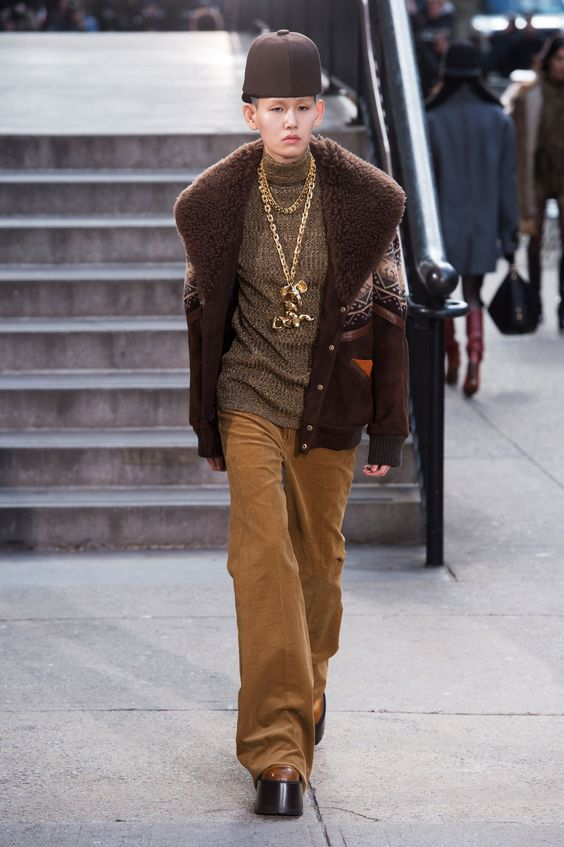 this is the look that most represents the collection to me