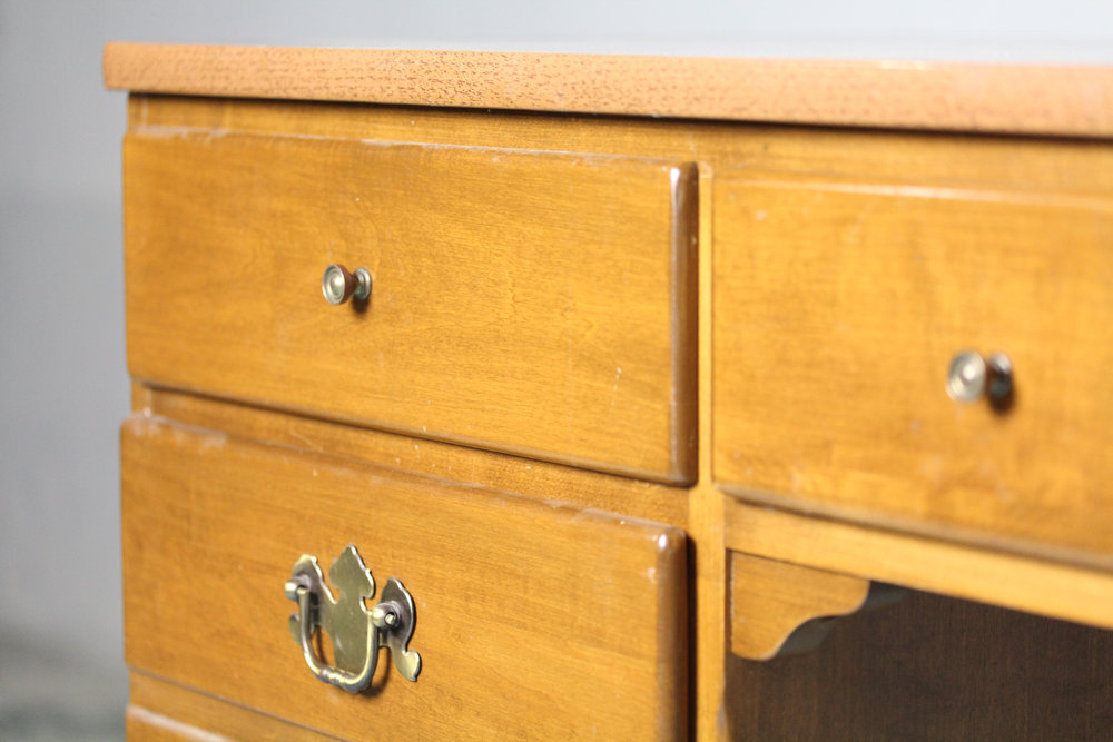 I Always Hated The Wood Color And The Dated Knobs, So I Had Never Even  Thought About Using The Desk. But, With A Little Bit Of Elbow Grease And  Chalk Paint, ...