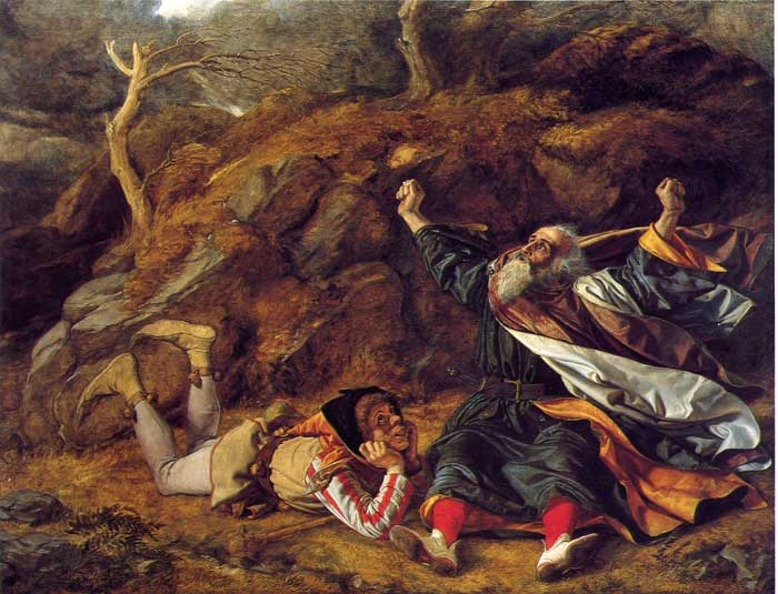 """King Lear and the Fool in the Storm"" by William Dyce"