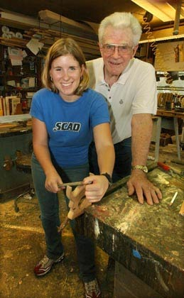 Laura and her grandfather Jack Robinson, a lifetime carpenter and furniture builder.