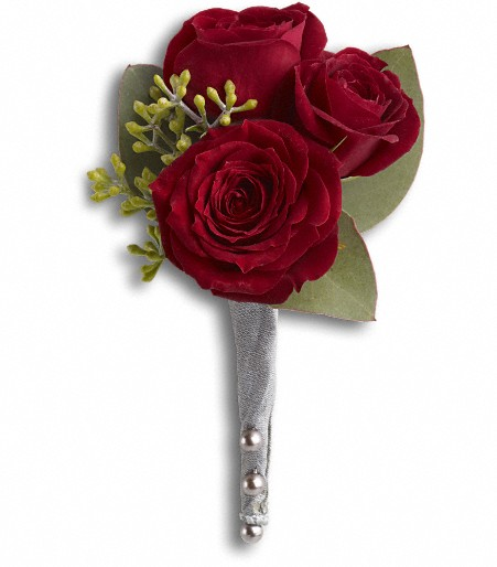 King's Red Rose Boutonniere T203-2A