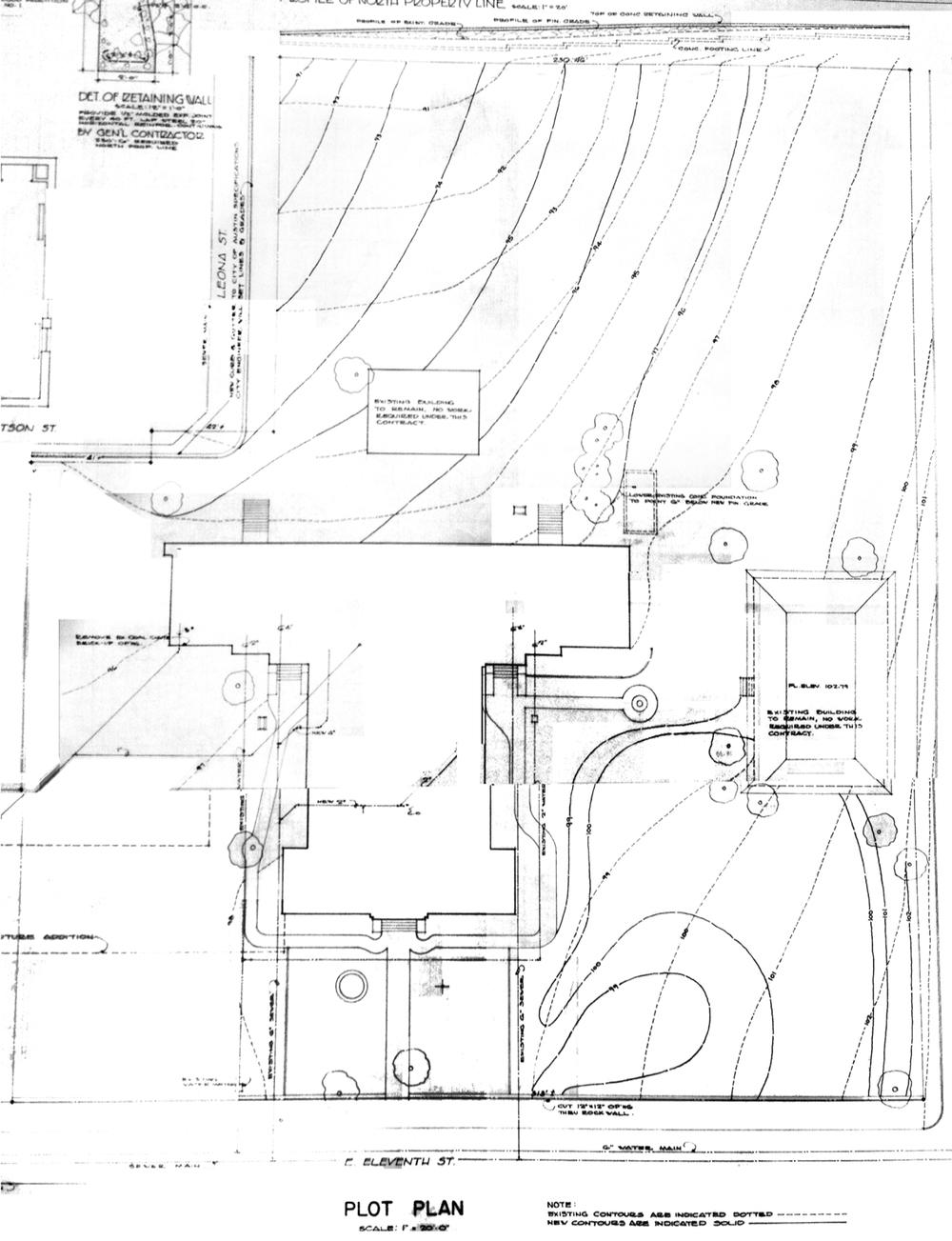 1948 Plot Plan | Jessen & Jessen Architects | Austin History Center