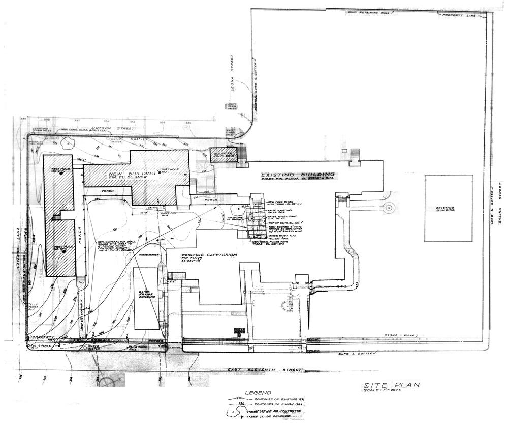 1961 Plot Plan | Jessen & Jessen Architects | Austin History Center