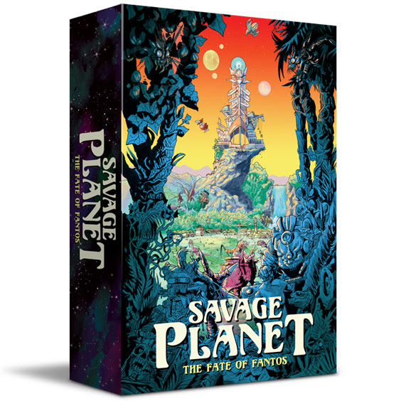 Imphouse Games has a new game ready to unleash on Kickstarter!   Savage Planet: The Fates of Fantos   is a our tableau-building card game combining competitive and cooperative elements for 2 to 6 players. Each player represents a unique Citadel (city-state) located on the planet Fantos. They must hire mercenaries (called Legacies) using Iridium shards from their Citadel's bank. Once hired, Legacies can be tasked to Harvest more shards, go to War with a neighboring Citadel,or be nominated as a Tribute to help save Fantos. Legacies may also play Labor cards from the Citadel's hand using their own shard currency. Every time a player chooses to pollute the planet by harvesting shards from the Trove of Fantos, they must reveal a new card from the Trials Deck. Life on Fantos becomes increasingly difficult as Zodraz unleashes plagues, summons cosmic creatures, and forces dissent among the Citadels. Resolve them together or watch as rival Citadels struggle to survive. Plan wisely and make every turn matter because Zodraz is lurking in the final Trials deck. When the Cosmic Warden is drawn, judgement is passed (scores are tallied) and the game is over.     Find out more about the game on  ImpHouse.com , and mark your calendars to join us for the Kickstarter campaign beginning June 8th!