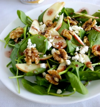 Apple Spinach Salad from STL Cooks