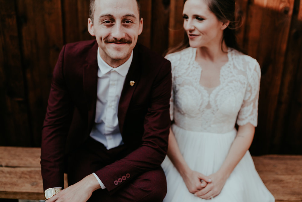 caleb + carlie - dallas, texas warehouse wedding