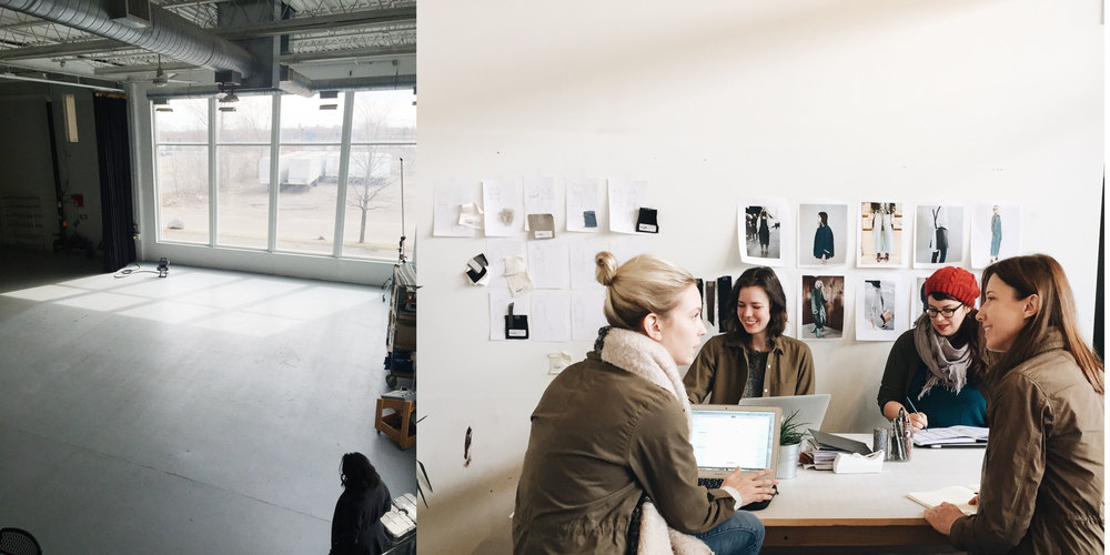 Left: Shelter Studios, Right: Creative meeting for The Shoot II