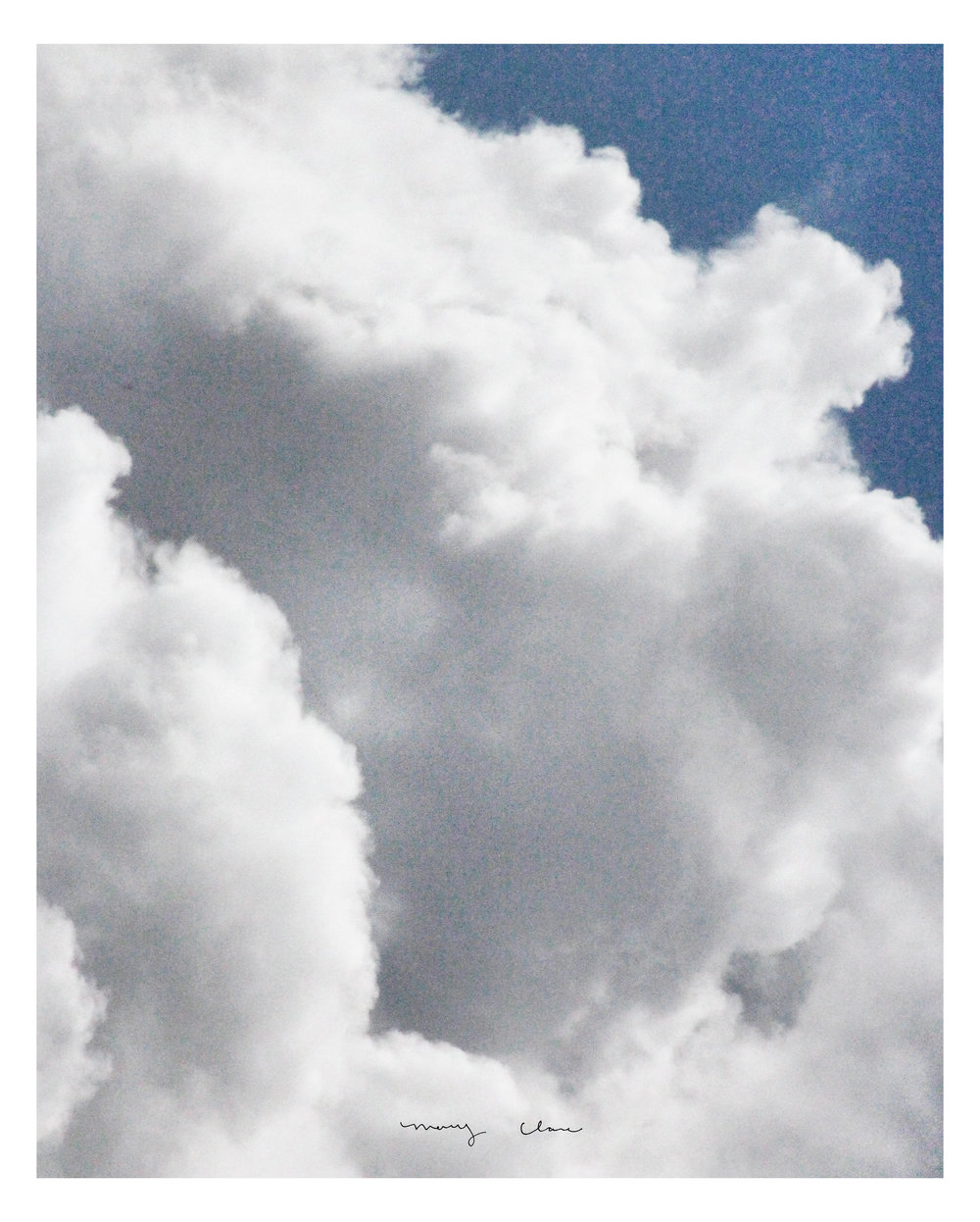 Clouds: Mary Clare Wilkie