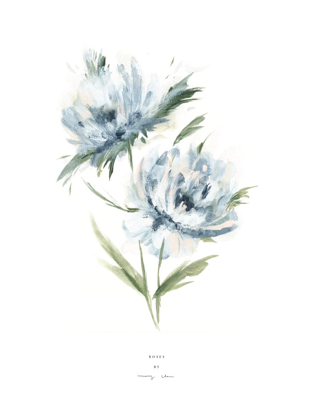 Blue Flowers: Mary Clare Wilkie