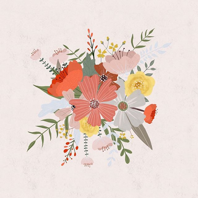 Floral Friday 🌷 is that a thing? The video of this one is in IGTV (If you enjoy IGTV) . . . . #vscocam #vsco #artlicensing #patterndesign #patterns #art #illustration #wallpaper #floralillustration #wallcovering #colourpalette #textiledesign #pattern #plantbased  @unumdesign #unum #painting #vegan #flowers #florals #spring