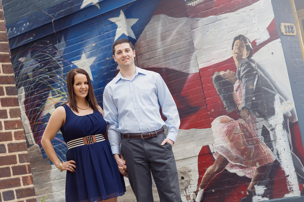 couple's photo session in old town alexandria.