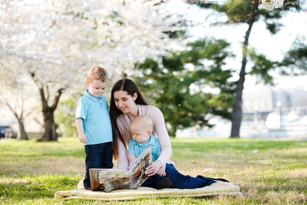 Cherry Blossom mommy & me session in Washington DC